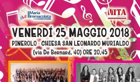 """Venerdì 25 maggio a Pinerolo il concerto """"Note di primavera, note di Vita"""""""