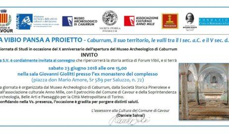 Cavour. Sabato 23 giugno Giornata di Studi in occasione del X anniversario dell'apertura del Museo Archeologico di Caburrum