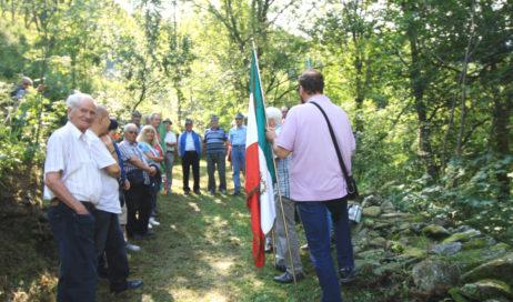 Perrero. Commemorazione partigiana a Linsard