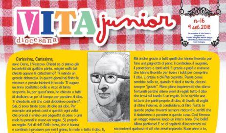 All'inizio dell'anno scolastico il Vescovo scrive ai bambini dalla pagine di Vita Junior