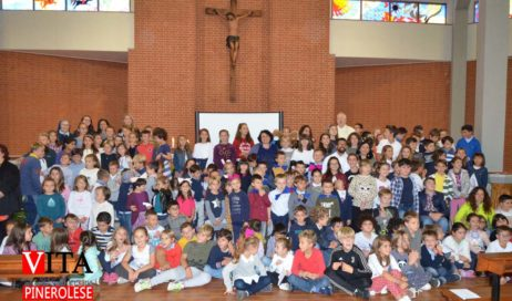 [ photogallery ] A Pinerolo la benedizione dei bambini all'inizio del nuovo anno scolastico