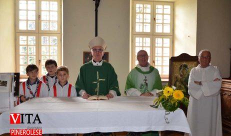 [ Photogallery ] Il vescovo Derio Olivero ha inaugurato la nuova sacrestia di Abbadia Alpina