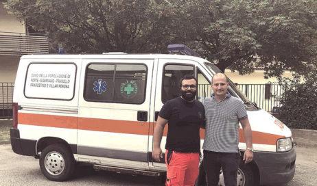 Nuova vita all'ambulanza vecchia