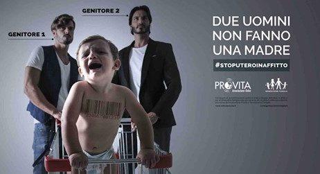 Una mobilitazione contro la prassi dell'utero in affitto e il mercato dei bambini