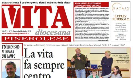 La prima pagina di Vita Diocesana n. 19 – Domenica 28 ottobre 2018