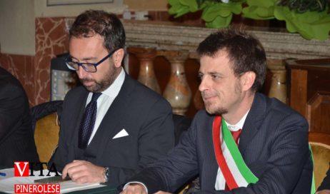 [ photogallery ] Il ministro Bonafede a Pinerolo per l'inaugurazione dell'ufficio di prossimità