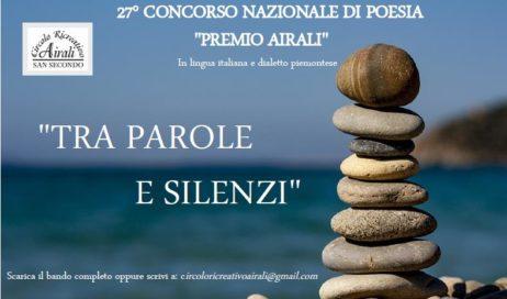 San Secondo. Circolo Airali: XXVII edizione del Concorso Nazionale di Poesia
