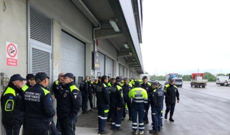 Protezione civile piemontese a Marzaglia (Mo) per fronteggiare allagamenti