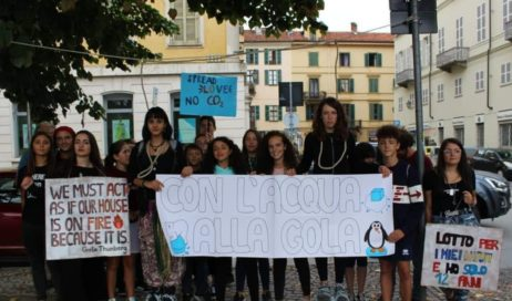 Gli studenti pinerolesi in trasferta per Friday For Future