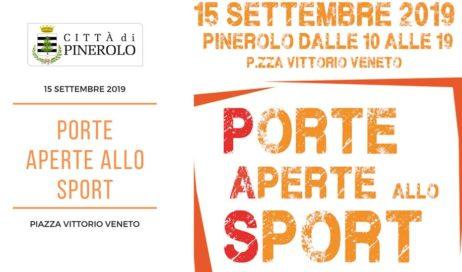 Pinerolo. Il 15 settembre è tempo di Porte Aperte allo Sport