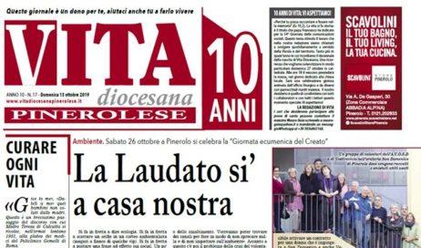 La prima pagina di Vita Diocesana Pinerolese n. 17 del 13 ottobre 2019