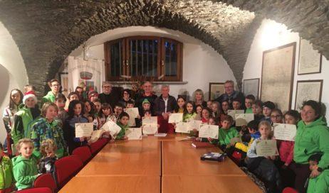 Pragelato premia i bambini delle mini Olimpiadi di valle