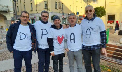 Pinerolo. Flashmob per il diritto alla bigenitorialità