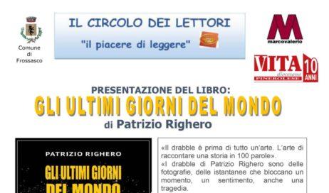 Frossasco. Patrizio Righero presenta il suo nuovo libro al Circolo dei lettori