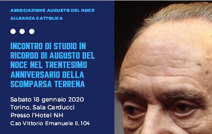 A Torino un convegno per ricordare Augusto Del Noce