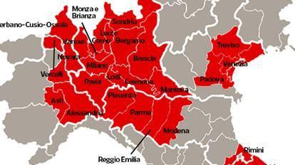 #coronavirus – Cinque province del Piemonte nella zona rossa