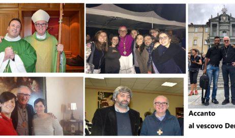 Accanto al vescovo Derio con una foto e con la preghiera
