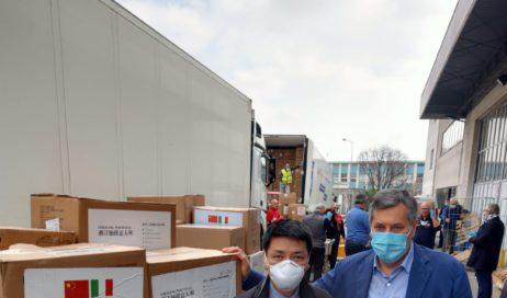#coronavirus. Il grazie della Regione alla Cina per i container di aiuti