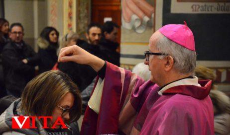 [Photogallery]. La prima domenica di Quaresima (con le Ceneri) del vescovo Derio