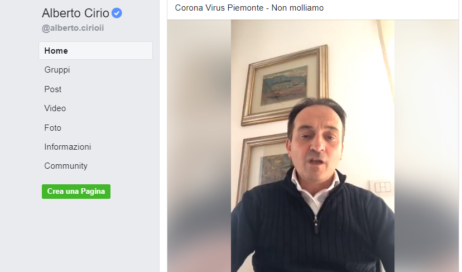 #coronavirus – Positivo al test anche il presidente della Regione Piemonte, Alberto Cirio