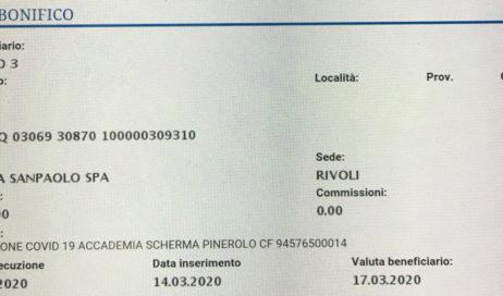 #coronavirus. L'Accademia Scherma Pinerolo dona mille euro all'Asl To3