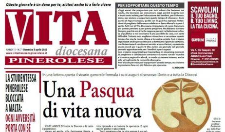 La prima pagina di Vita diocesana pinerolese n. 7 di domenica 5 aprile 2020