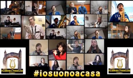#coronavirus. La Filarmonica Pinerolese non si ferma e dice #iosuonoacasa