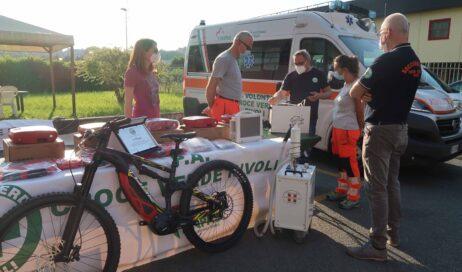 #coronavirus. Sanificatori e defibrillatori per le ambulanze grazie all'e-bike di Loris Capirossi