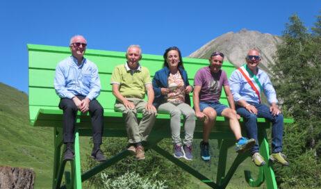 [Photogallery]. Inaugurata la Big Bench al Pian dell'Alpe