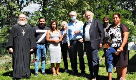 """Inaugurata un'aula didattica nel campo rom """"Insieme"""" di Cumiana"""