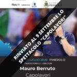 Pinerolo. Rinviato al 9 settembre lo spettacolo con Berruto