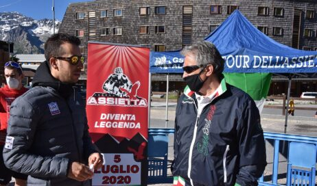 Sestriere. Anche Fabio Aru al flash mob Assietta Legend