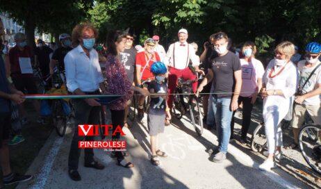 [Photogallery]. L'inaugurazione della Pista Ciclabile di Pinerolo