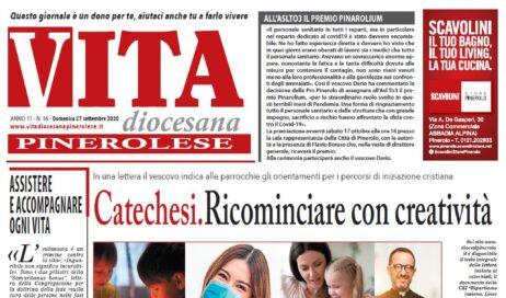La prima pagina di Vita Diocesana Pinerolese n. 16 del 27 settembre 2020