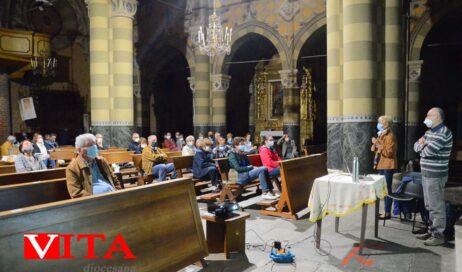 [Photogallery]. Pinerolo. Nella Basilica di San Maurizio Adriano Sella è intervenuto sulla Laudato si'
