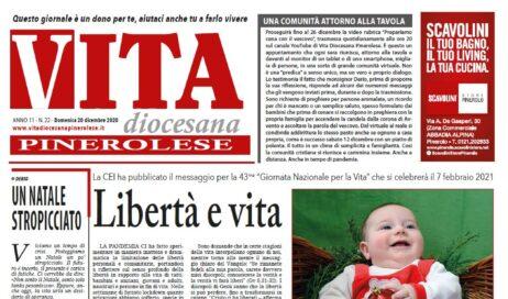 La prima pagina di Vita Diocesana n. 22 del 20 dicembre 2020