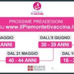 Regione. Anticipate le preadesioni per il vaccino Covid dei quarantenni