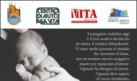 """Il 23 giugno a Pinerolo """"In preghiera per la vita"""""""
