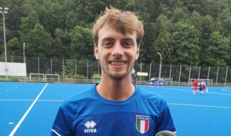 Hockey Prato. Alberto Ughetto dell'SKF HP Valchisone al raduno della Nazionale
