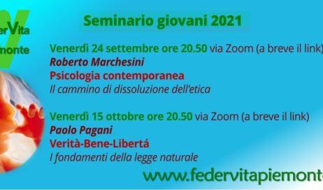 Federvita Piemonte. Seminario giovani 2021