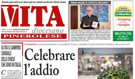 La prima pagina di Vita Diocesana Pinerolese n. 18 del 24 ottobre 2021